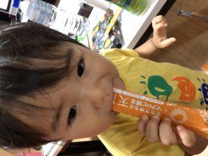 マクロビ酵素天陽を飲む1歳児